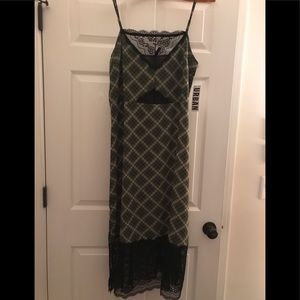 Urban outfitters plaid and lace dress size large